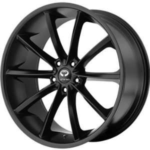 Lorenzo WL032 18x8 Black Wheel / Rim 5x112 with a 20mm Offset and a 72