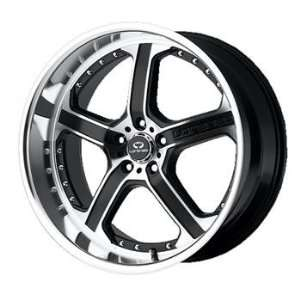 Lorenzo WL021 18x8 Black Wheel / Rim 5x112 with a 42mm Offset and a 66