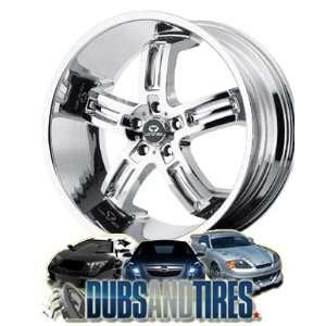 20 Inch 20x10 LORENZO wheels WL26 Chrome wheels rims