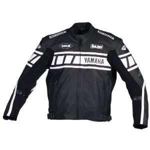 Superbike Mens Leather Motorcycle Jacket Black/Black/White 48 801 0048