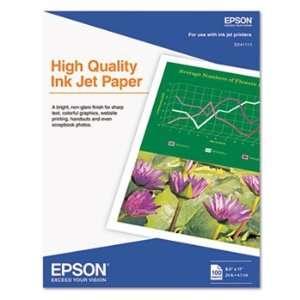 Epson S041111   High Quality Inkjet Paper, Matte, 8 1/2 x