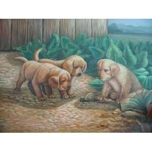 12X16 inch Animal Canvas Art Repro Cute Dogs/Puppies