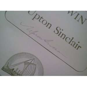 Sinclair, Upton A World To Win 1946 Book Signed