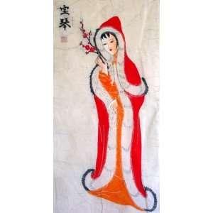 Beautiful Chinese Art Batik Tapestry Beauty Girl