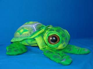 14 BIG EYE SCHLITTER BAHN GREEN SEA TURTLE PLUSH TOY STUFFED ANIMAL