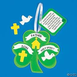 Trinity Lucky Shamrock Ornament Fun Foam Craft Kit