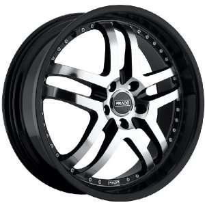 18x8 Prado Dante 5x115 +38mm Black Machined Wheels Rims