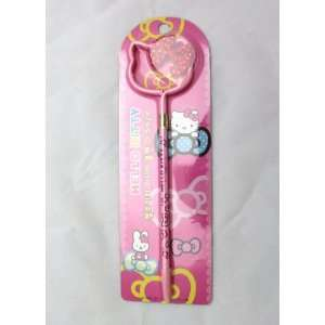 Hello Kitty Face Ball Point Pen w/ 3D Bow   PINK