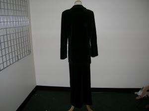 SONIA RYKIEL black velour 2 piece outfit sz small WOW