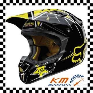 FOX RACING V1 ROCKSTAR HELMET XLARGE XL STYLE #01276 / BLACK YELLOW