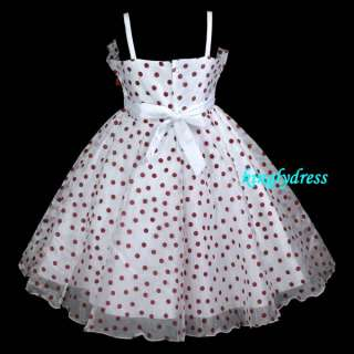 New Flower Girl Pageant Bridesmaid Wedding Princess Party Dress Wears