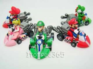 Lot 10 Super Mario 2 Kart Pull Back Car Figure MR61