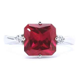 Xmas Gift Sale Unique Jewelry Red Ruby 925 Sterling Silver Ring Size 6