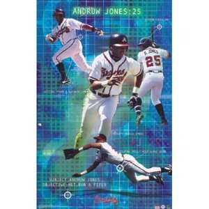 Andruw Jones Poster Hit, Run, & Field (S5009): Home