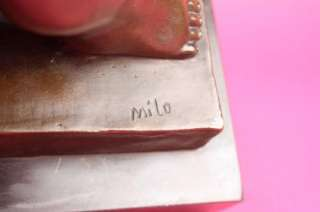 Signed Milo Botero Lady and the Swan Bronze Sculpture Figure Statue