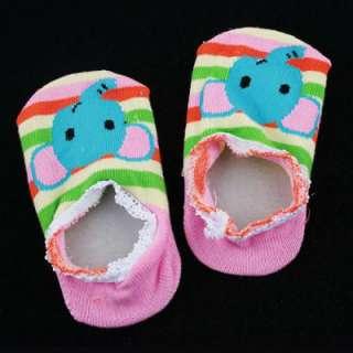 10 PCS Unisex Baby Kids Toddler Girl Boy Anti Slip Ankle Socks Shoes