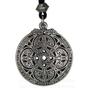 Dragon Shield Celtic Knot pendant talisman military protection jewelry