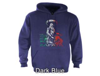 Viva Zapata Mexico Hoodie mexican flag tortia cool