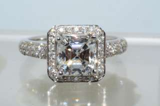 99988 2.79CT GIA CERTIFIED SQUARE EMERALD CUT DIAMOND ENGAGEMENT RING