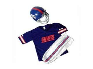 New York Giants Youth NFL Team Helmet and Uniform Set