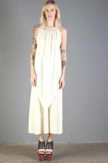 vtg CROCHET LACE draped GRECIAN maxi GODDESS hippie TIERED boho dress