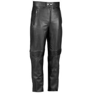 River Road Bravado Mens Black Leather Motorcycle Overpants