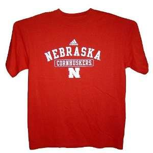 Nebraska Cornhuskers Official Practice NCAA T Shirts (Red) (Large