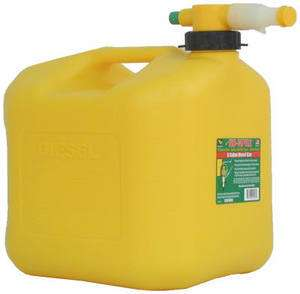 NO SPILL 1457 5 GALLON CARB COMPLIANT YELLOW DIESEL FUEL CAN