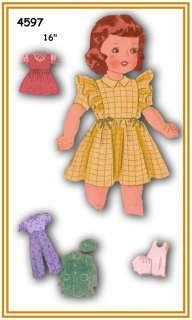 4597 Terri Lee doll wardrobe pattern old 16