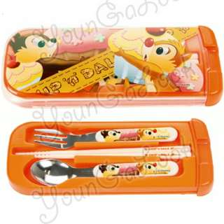 Disney Chip Dale Fork Spoon ChopSticks Cutlery Travel