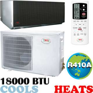 18000 BTU Ductless Mini Split Air Conditioner, Heat Pump   MIRROR
