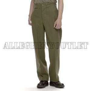 USGI MILITARY ARMY M1951 M 1951 Green Wool Pants ZIPPER FLY Cold