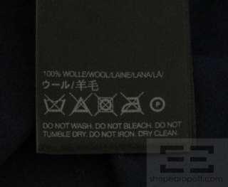 Yohji Yamamoto Navy Wool Knit Long Sleeve Dress Size S/P