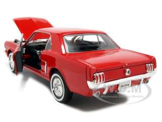 1964 1/2 FORD MUSTANG COUPE RED 124 DIECAST MODEL