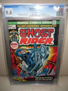 Ghost Rider #1 CGC 9.4 1973 Movie Nick Cage 809 WP cm