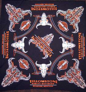 Yellowstone Harley Davidson Custom Steer Skull Bandana
