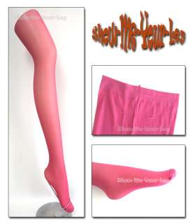 20D Pink Smooth Sheer Tights / Pantyhose / Stockings