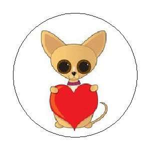 CHIHUAHUA with HEART Dog Puppy Cartoon Cute Love Valentine