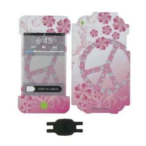 Flower Peace Design Smart Touch Shield Decal Sticker and Wallpaper