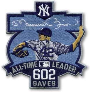 MLB Baseball Patch NY Yankees Mariano Rivera 602 Saves All Time Leader