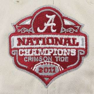 Brand Alabama Crimson Tide White 2011 BCS National Champions Cap / Hat
