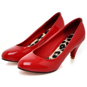 2012 Spring New Fashion Patent Leather Womens Shoes Sweet High Heels