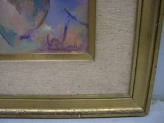 Great old oil on canvas clown painting # as/2074