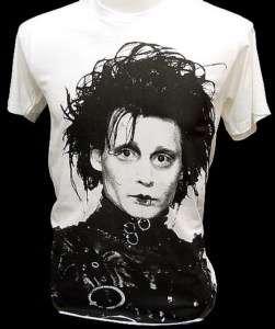 EDWARD SCISSORHANDS Johnny Depp Retro Movie T Shirt XL