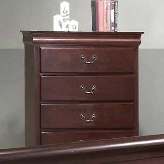 Louis Philippe Cherry or Cappuccino Brown Sleigh Bedroom Set Furniture