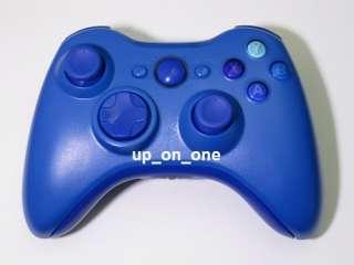 CUSTOM 100% ALL BLUE XBOX 360 WIRELESS CONTROLLER DARK ABXY TRIGGER