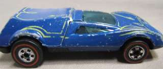 1972 (69) Hot Wheels RED LINE BUZZ OFF Dark Blue White Pin Stripe