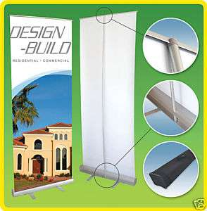36x79 Retractable Roll Up Banner Stand, Free Print
