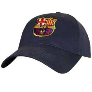 Fc Barcelona Navy Blue Baseball Cap {Official Product