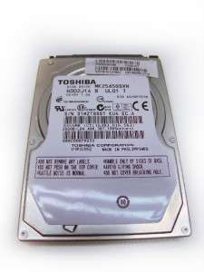 Toshiba 250GB 5400RPM MK2565GSXN Sata Laptop Hard Drive Non working